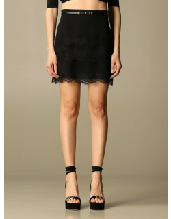 Elisabetta Franchi short skirt in crêpe with lace