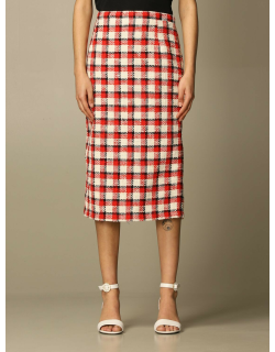 N ° 21 pencil skirt in checked bouclé fabric