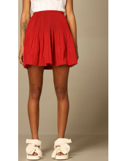 Red Valentino skirt with micro pleats
