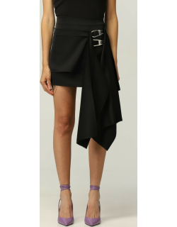The Attico mini skirt with panels and snap hooks
