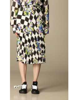 Off White pleated skirt with print