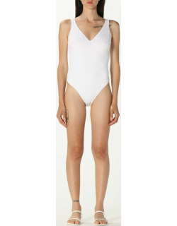 Elisabetta Franchi onepiece swimsuit with allover logo