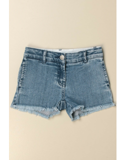 Stella McCartney denim shorts with butterfly embroidery