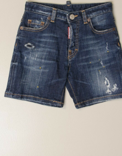 Dsquared2 Junior denim shorts with tears