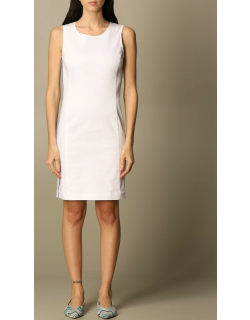 Love Moschino sheath dress in stretch cotton with bands