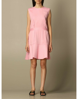 Moschino Couture dress in stretch linen canvas
