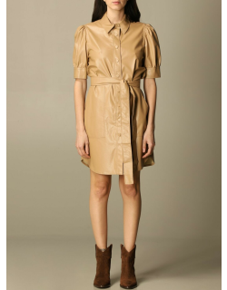 Twinset short dress in synthetic leather