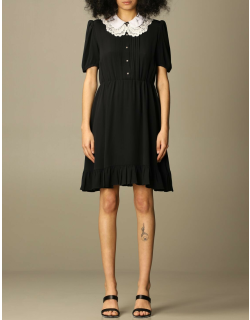 Short dress N ° 21 with embroidered collar