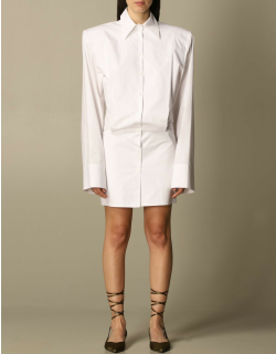 The Attico shirt dress with maxi shoulders