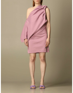Life at Large Capsule The Attico oneshoulder dress in draped fabric