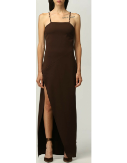 The Attico long dress with chain details
