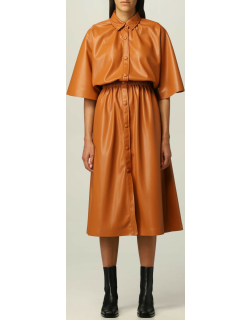 Msgm shirt dress in synthetic leather