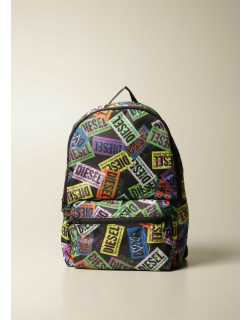 Diesel backpack in canvas with all over logo