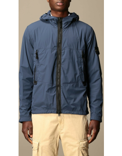 Stone Island Skin touch hooded jacket in nylon