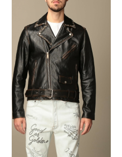Golden Goose leather jacket with studs