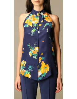 Boutique Moschino silk blend shirt with floral pattern
