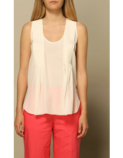 Basic Twinset top in viscose and silk
