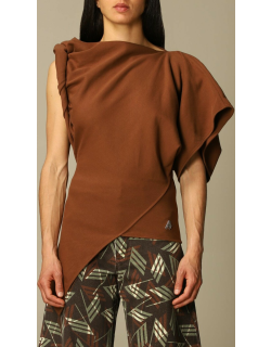 Life at Large Capsule The Attico oneshoulder top in draped fabric