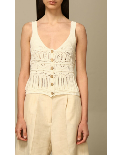 Kaos top in perforated knit