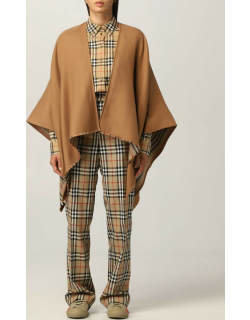 Burberry cape in wool with striped pattern