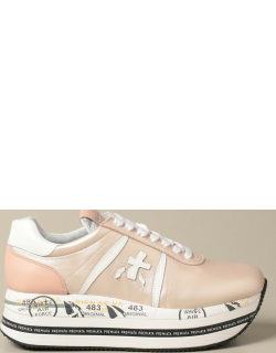 Beth Premiata sneakers in pearled leather with logo