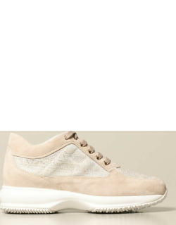 Interactive Hogan sneakers in suede and lurex canvas