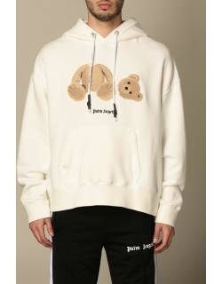Palm Angels hooded sweatshirt in cotton with bear print