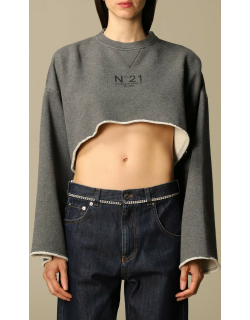N ° 21 cropped jumper with logo