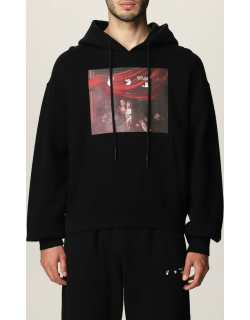 Off White hooded jumper with print