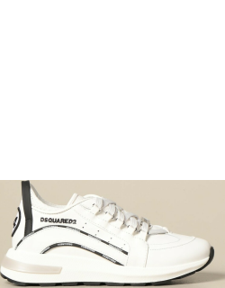Dsquared2 Junior sneakers in leather with logo