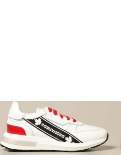 Dsquared2 Junior sneakers in leather with logoed band