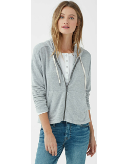 Splendid Womens Supersoft French Terry Zip Up Hoodie Heather Grey