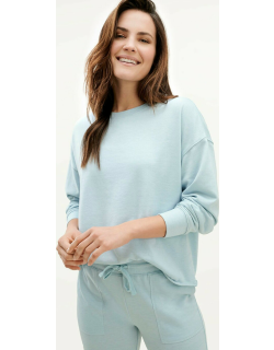 Splendid Womens Eco French Terry Pullover Sweater CLOUD BLUE