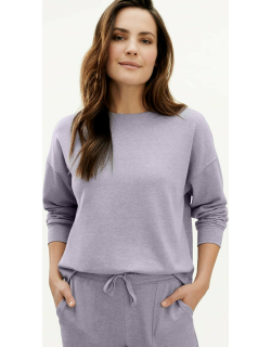 Splendid Womens Eco French Terry Pullover Sweater Iris