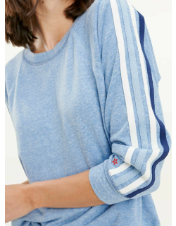 Splendid Womens Clearwater Jersey Pullover Sweater French Blue