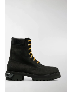 VETEMENTS Trucker lace-up ankle boots