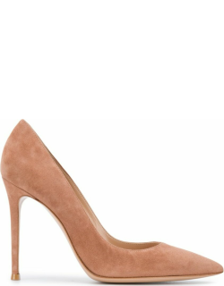 Gianvito Rossi pointed suede panel pumps