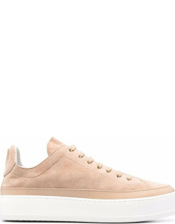 Max Mara suede lace-up sneakers