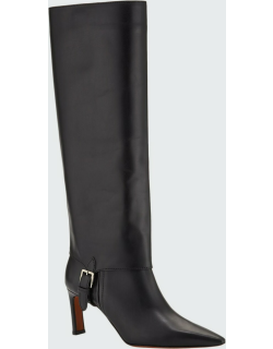 Hay Leather Knee Boots