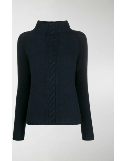 'S Max Mara high-neck cable knit sweater