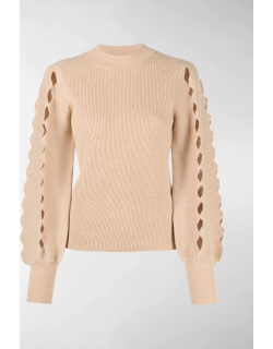 Chloé scallop cut-out knitted jumper