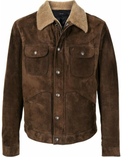 TOM FORD collared suede jacket