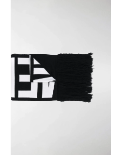 VETEMENTS knitted logo scarf