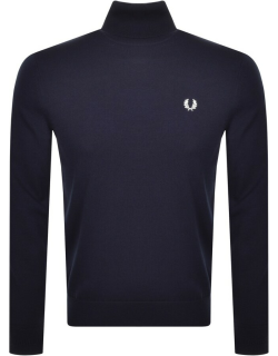 Fred Perry Roll Neck Knit Jumper Navy