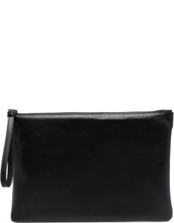 Common Projects logo-print clutch bag