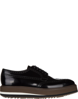 Men's classic leather lace up laced formal shoes