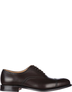 Men's classic leather lace up laced formal shoes ebony