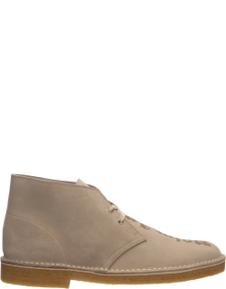 Men's suede desert boots lace up ankle boots logo