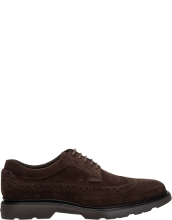 Men's classic suede lace up laced formal shoes derby h393