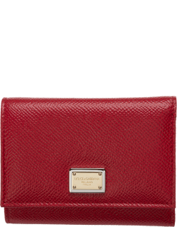 Women's wallet leather coin case holder purse card trifold dauphine